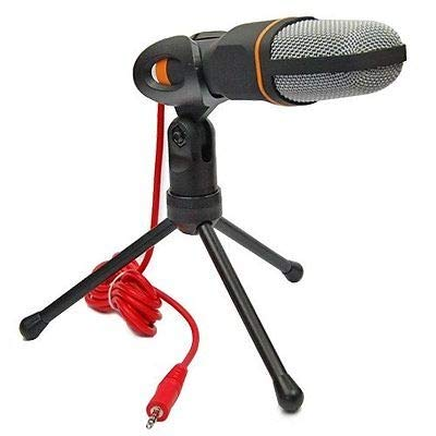 DaMohony Micrófono de Condensador de Audio Estudio Profesional Grabación de Sonido Micrófono W Soporte de Montaje (Negro)