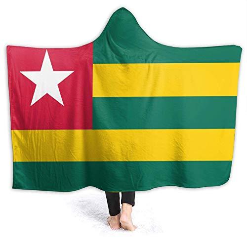 AEMAPE Nationalflagge von Togo Hooded Blanket Weiche Decken Fleece Throw Blanket für Kinder 60x50in