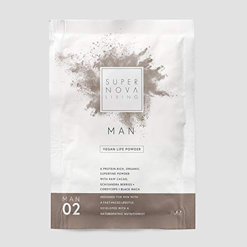Supernova Living Man's Protein Powder, No.02 Black Maca, 30 g