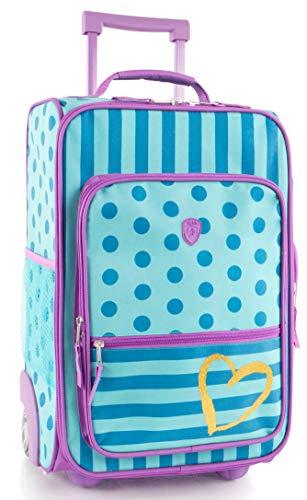 Heys America kids Softside 18' Upright Carry-On Wheeled Luggage (Dots-Stripes)
