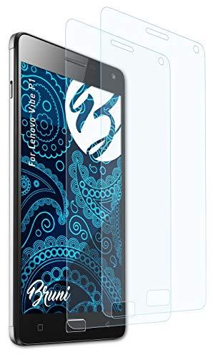 Bruni Schutzfolie kompatibel mit Lenovo Vibe P1 Folie, glasklare Bildschirmschutzfolie (2X)