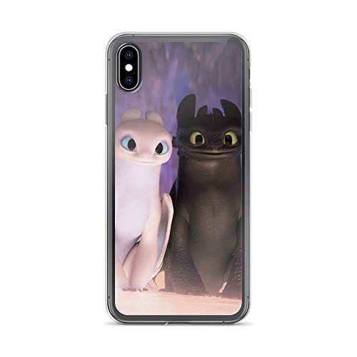 TEEMT Compatible with iPhone 7 Plus/8 Plus Case How to Train Your Dragon Shield Toothless and Girfriend Pure Clear Phone Cases Cover