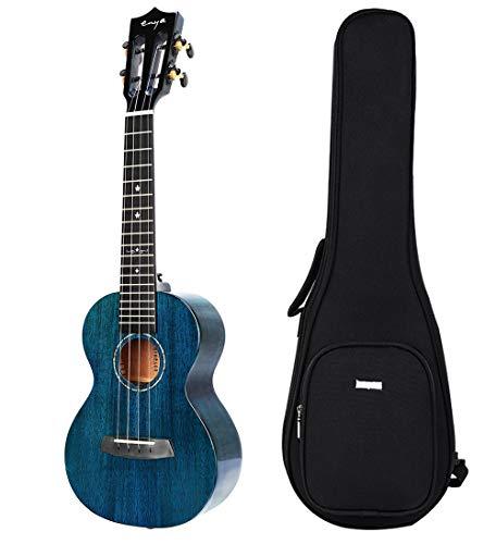 """Enya ukelele de concierto EUC-MAD BU 23"""" caoba sólido color azul ukuleles en compañía caso ukelele alta calidad"""