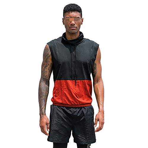 Camiseta Sin Mangas Hombre Verano Moda Contraste Color Ajuste Regular Hombre Tank Top Modernos Urbanos Lazada Hombre Sin Mangas Shirt Casual Sport Transpirable Hombre Camiseta A-Black Orange S