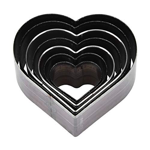 Troquel de corte de cuero en forma de corazón, 7 piezas 20-50 mm Molde de corte artesanal de cuero DIY en forma de corazón encantador, herramientas de artesanía de cuero
