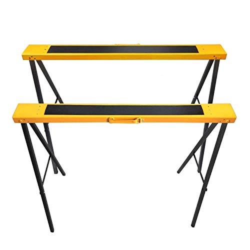 FEMOR 2 Stück Falt-Arbeitsböcke Klappbock bis 120kg belastbar, Stützbock Sägehilfe, Arbeitsbock Metall platzsparend