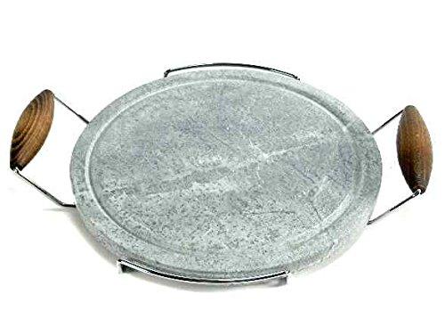 Bisetti Pentola da Cucina di Pietra Ollare, Marrone, Tonda, 30 cm