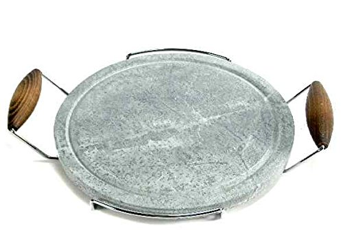 Bisetti Pietra ollare Tonda cm30 Pentole e Preparazione Cucina, Marrone