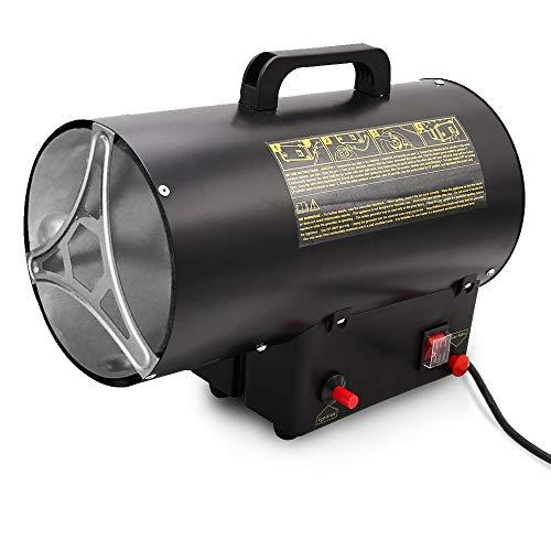 10 kW Gasheizer für Gasflasche Gasdruckregler 700mbar Gasschlauch Gasheizofen Gasheizgerät Gasheizgebläse Innenbereich, Camping