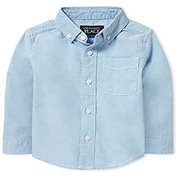 The Children s Place Baby Boys and Toddler Boys Long Sleeve Oxford Button Down Shirt Lt Blue 2T