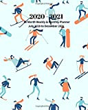 2020 - 2021 | 18 Month Weekly & Monthly Planner July 2020 to December 2021: Skiing Winter Sports Monthly Calendar with U.S./UK/ ... in.-   Economics Office Equipment & Supplies