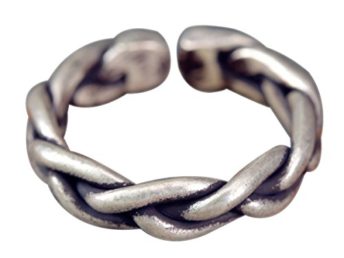 NicoWerk Silberring Gewebt Geflochtet Draht Vintage Ring Silber 925 Verstellbar Damenringe Damen Schmuck Sterling SRI283
