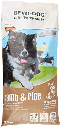 BEWI DOG Lamb & Rice [12,5 kg] Hundefutter | Trockenfutter für empfindliche Hunde | 80% tierisches Eiweiß | für Hunde aller Rassen