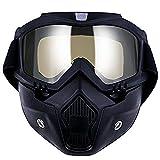TedGem Gafas Máscara desmontable, Máscara de la motocicleta, Máscara de la motocicleta con gafas desmontables, máscara de casco para el motocrós Carreras de carreras Abra el casco de