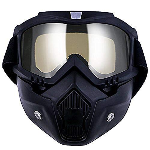 TedGem Motorrad Goggle Motocross, Masken, Motorrad Sonnenbrille Motorrad Schutzbrille Staubschutz Brille, abnehmbar Gesichtsmaske winddicht für Outdoor Fahrrad Dirtbike Motocross Off-Road Goggles