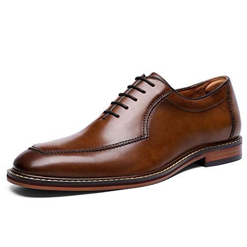 DESAI Business Anzugschuhe Schuhe Herren Derby Brogues Leder Oxford Braun/Schwarz