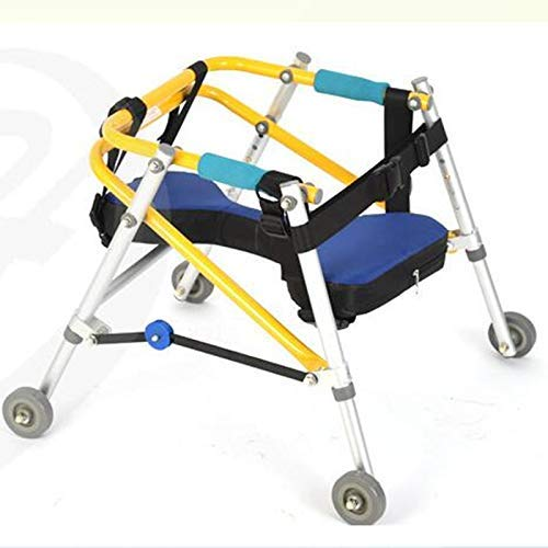 Walker Child Lower Limb Rehabilitation Aids Training Stand Walker Directional Four Wheel Lower Limb Disability Gliding Frame Child Standing Frame,S