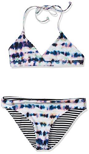 Splendid Girls' Reversible Top & Retro Bikini Bottom Swimsuit Set, Glowing Coastal Multi, 12