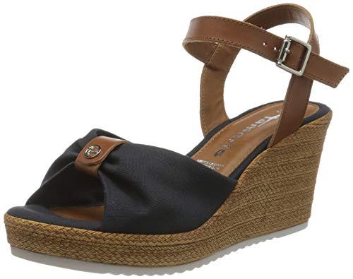 Tamaris 1-1-28341-24 804 dames open sandalen met sleehak