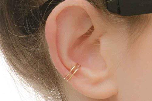 Ohr manschette-Ohrring-Ohr klemme-Ohrspange fake Muschelpiercing - Doppelohrmanschette