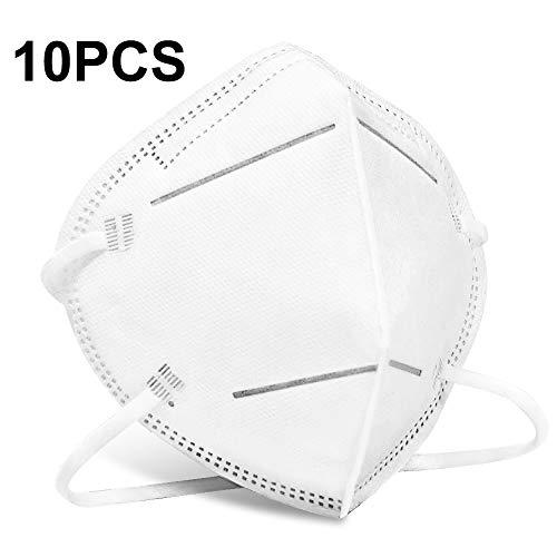 KN95 Mascarillas Protectora 10 Piezas,  PM2.5 Máscaras de Seguridad,  4 Capas de Protección 95% Efecto de Filtrado contra el Polvo y las Gotas en el Aire