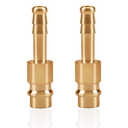 2stk Druckluftkupplung Tülle 6mm Messing DN6 Kupplungsstecker Schlauchanschluss Kupplungsdose Schlauchstecker Ventilsteckdose Gewindestecker