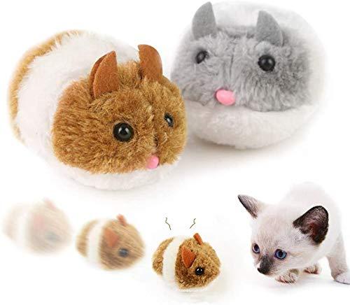 Juguetes para Gato Nesloonp Raton Juguete Gato Ratones para Gatos Que se Mueven Forma de Mouse Movimiento Ratones para Gatos...
