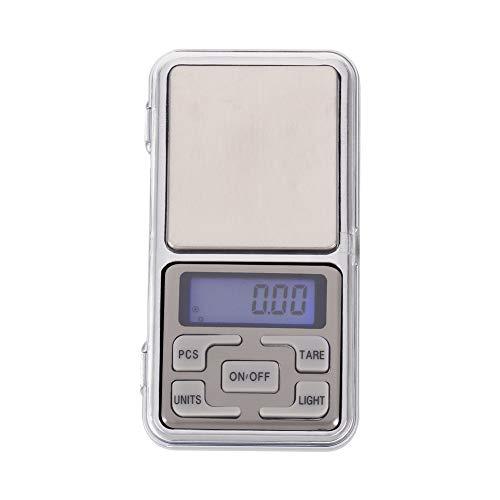 metagio Digitale Feinwaage, Digitale Taschenwaage Feinwaage Küchenwaage LED-Hintergrundbeleuchtung-Anzeige, bis 500 g, 0,1 g Schritte, für Küchen-Schmuck, Droge, Tee, Hefe, Kaffee und andere