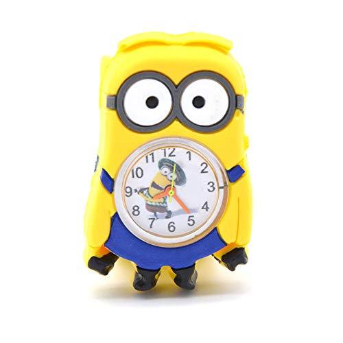 Kinderuhr XYBB Kinder 3D Cartoon Film Spielzeug Kinderuhren Kinder Babyuhr für Mädchen Jungen Geschenke Spielzeug Uhr für Kinder MinionsWatches