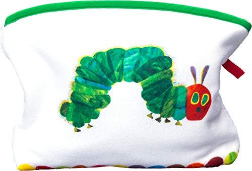 Smithy Waschbeutel mit süßem Raupe Nimmersatt Motiv – Öko Tex zertifizierter und pflegeleichter Kulturbeutel für Mädchen und Jungen mit den Maßen 28 x 28 cm