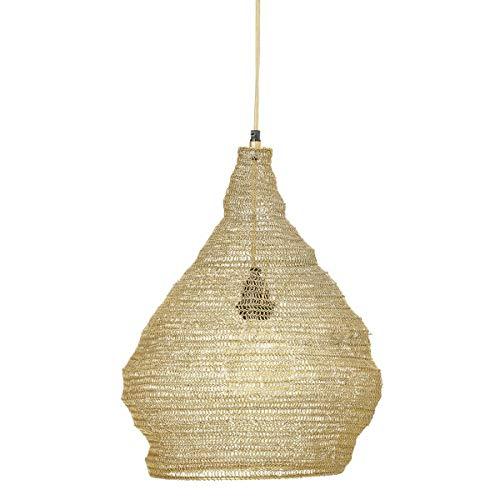 Bloomingville - Rio - Pendelleuchte, Deckenlampe, Lampe - aus derbem Metallgeflecht - (ØxH): 38 x 40 cm