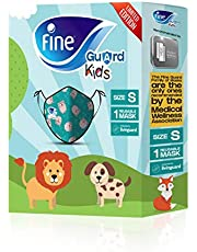 Fine Guard Kids Face Mask, Reusable face mask with Livinguard Technology, – Green Limited Edition, Size Small