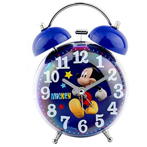 Generies Decorazione Domestica dell orologio di Bell del Metallo Silenzioso del Fumetto della Sveglia di Topolino