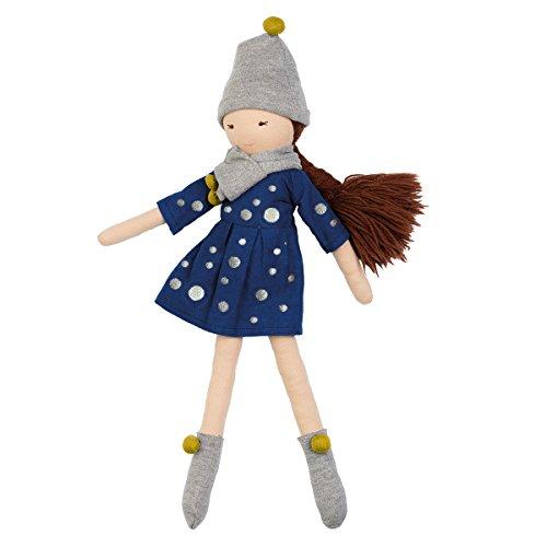Hoppa Puppe Mia, Stoffpuppe mit Kleidung und Haaren, Kinderspeile ab 10 Monate - 30 cm
