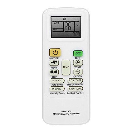 Raitron Airconditioner Afstandsbediening Airconditioning Controller Voor HAIER Midea LG TCL FUJITSU SHARP Wit