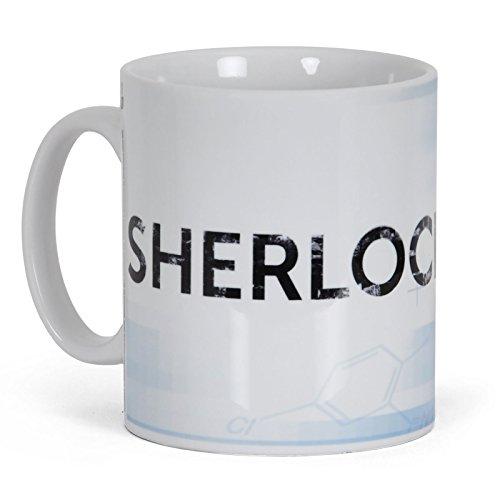 Elbenwald Sherlock Kaffee Becher zur TV Krimi Serie Sherlock Holmes Privatdetektiv Tasse lizenziert 300ml Keramik