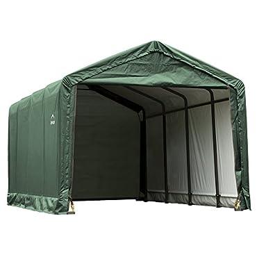 ShelterLogic 62810 ShelterTUBE Storage Shelter, Green, 12 x 25 x 11 ft.
