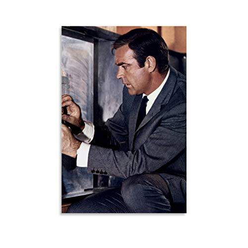 NQSB Film Stars Sean Connery 007 James Bond 11 Poster decorativo su tela da parete per soggiorno, camera da letto, 40 x 60 cm