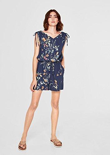s.Oliver Damen Jumpsuit mit Blumen-Muster, Blau - 2
