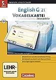 English G 21 - Lernsoftware - Vokabelkarteien interaktiv - zu allen Ausgaben: EG 21 Band 1; 5.Klasse Vokabelkarteien interaktiv zu allen Ausgaben: ... interaktiv - Lernsoftware zu allen Ausgaben)