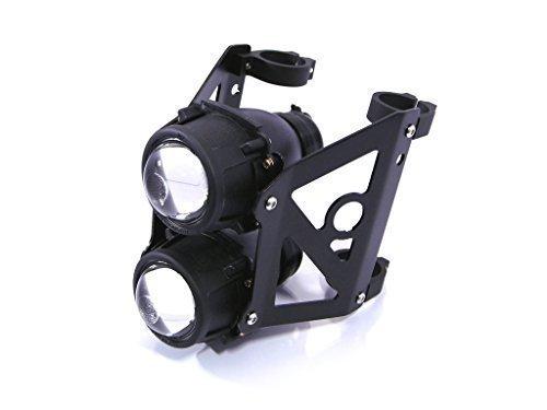 Streetfighter Moto Doppio Impilati Proiettore Faro Set Omologato Supporti per 42mm - 43mm Forcelle