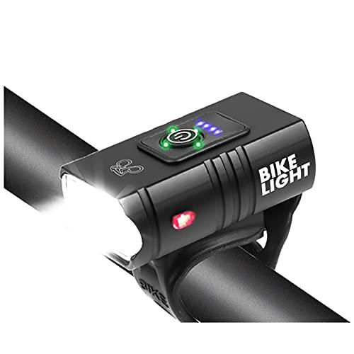 LOGGO Bicicletta/Mountain Bike Luce della Bicicletta 2T6 / T6 USB Ricaricabile 1000mAh della Luce della Bicicletta Multi-Modello IPX5 Impermeabile LED Fari Come Banca di Potere Accessori Biciclette