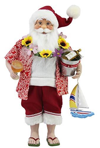 16' Inch Standing Tropical Santa Claus Christmas Figurine Figure Decoration 167150