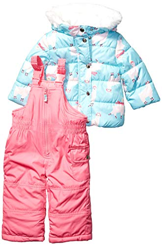 Carter's Baby Girls Heavyweight Jacket and Pants Snowsuit, Llamas On Brightest Blue, 24 Months