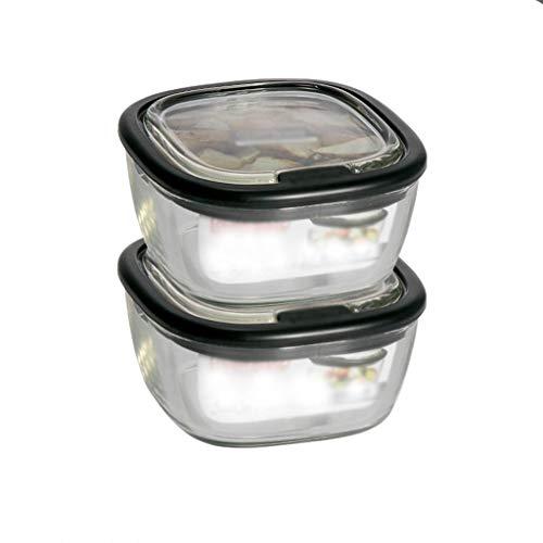 Glazen verpakkingen for Work Lunches Glas Meal Prep bakjes met deksel, waterdicht Opslag Van Voedsel Container Set/Magnetron/Vriezer/vaatwasmachinebestendig lunchgerechten fresh box