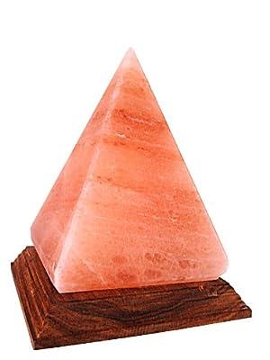 Himalayan Crystal Salt Lamp Pyramid Shape (Finest quality salt crystals) by Tavus