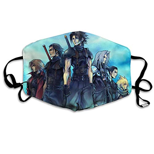 ghjkuyt412 Mouth Cover Face Cover Final Fantasy VII 2 Washable Mouth Cover Reusable Mouth Scarf Face Scarf for Kids Adults