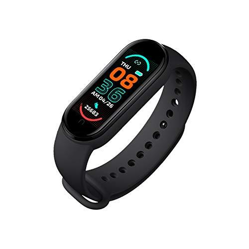 Reloj de pulsera inteligente M6, con monitor de actividad física / monitor de frecuencia cardíaca / presión arterial, pantalla a color IP67 a prueba de agua para teléfono móvil