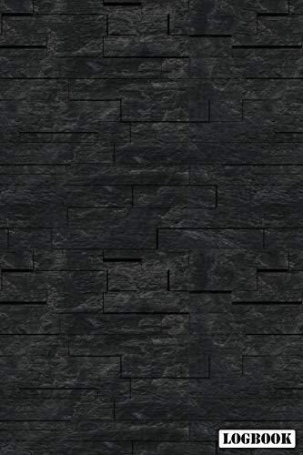 Logbook: Black Slate Brick 2019 Calendar Organizer Planner For Contractor Builder & Maintenance