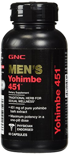 GNC Men's Yohimbe 451, 60 Capsules, Supports Sexual Health